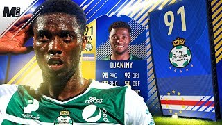 FIFA 18 TOTS DJANINY REVIEW | 91 TOTS DJANINY PLAYER REVIEW | FIFA 18 ULTIMATE TEAM