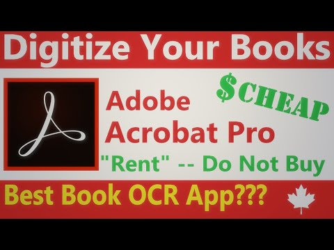 4 Adobe Acrobat Pro The Best OCR For Your Scanned Books