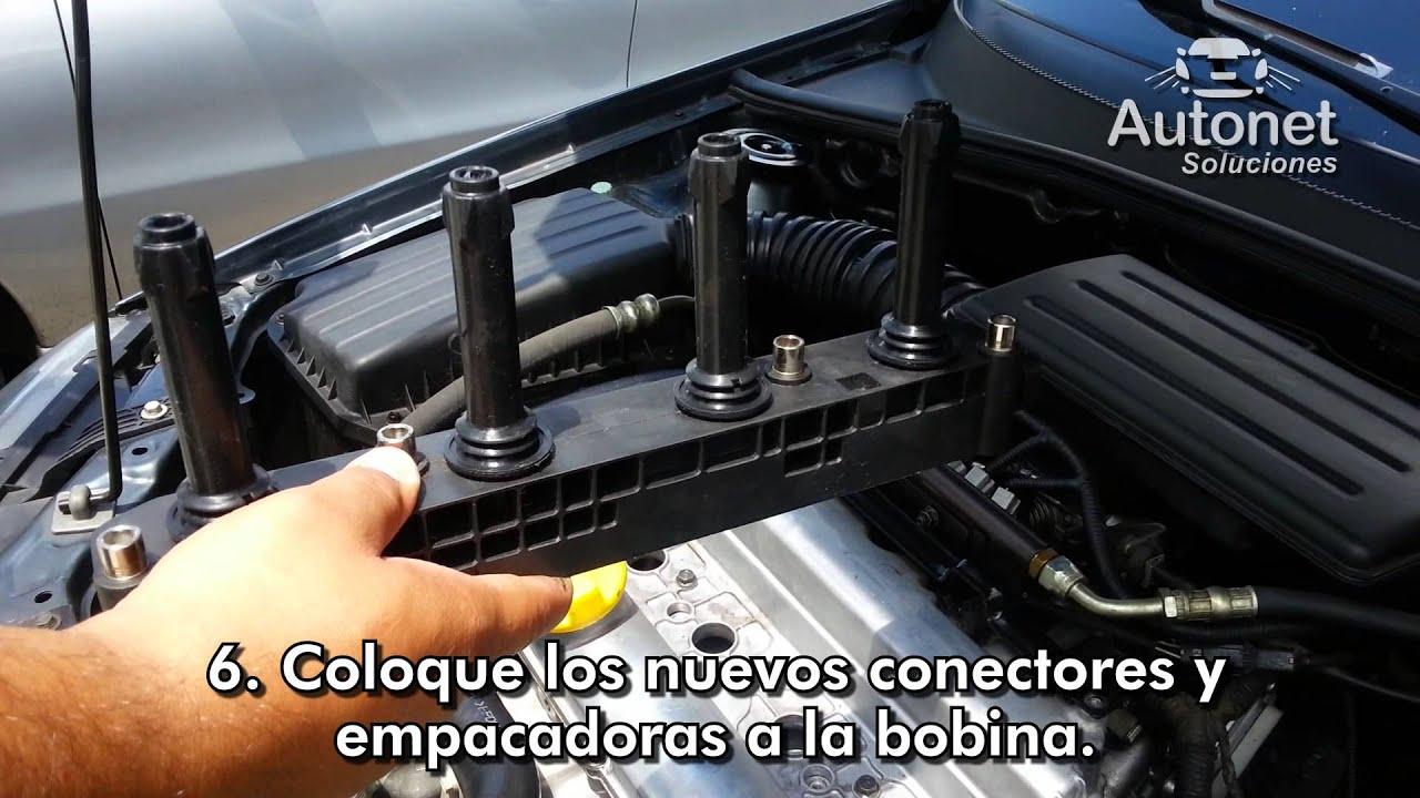 Reemplazo de conectores bobina tipo regleta chevrolet optra desing advance hb lt motor e tec iii
