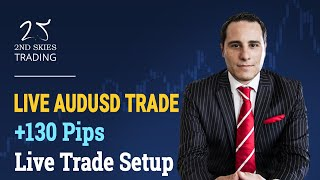 Forex Price Action Live Trade Setup +130 Pips AUDUSD - 2ndSkies Forex