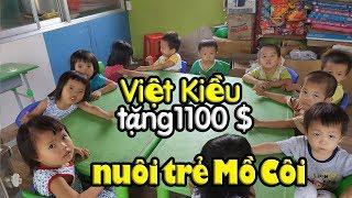 Việt Kiều Mỹ chi cả ngàn USD giúp các bé mồ côi Mái Ấm Thiên Thần Q9 Sài Gòn