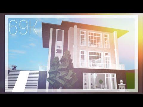 Blush Pink Aesthetic Apartment 3 Stories Bloxburg Speedbuild 69k
