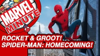Rocket & Groot! Spider-Man: Homecoming! - Marvel Minute 2017