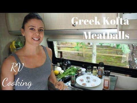 Greek Kofta Meatballs with Tzatziki | RV Cooking & Healthy RV Recipes #6