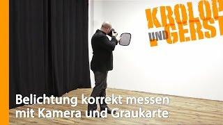 Belichtung korrekt messen mit Kamera und Graukarte 💡 QUICKTIP 💡 Krolop&Gerst