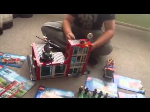 Lego fire station & Forrest truck Travel Video