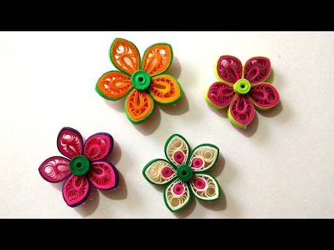 How To Make Beautiful Flower Using Paper Art Quilling