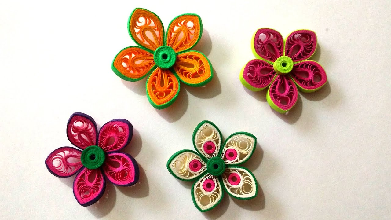 How to make beautiful flower using paper art quilling youtube mightylinksfo
