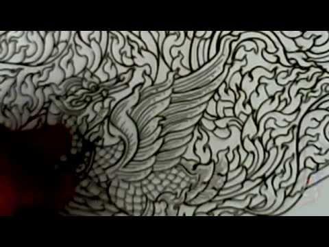#ลายไทย,#พื้นฐานลายไทย,การเขียนลายไทย-DemonstratE Draw Thai Painting No.2