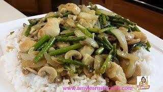 Amy's Chicken, Mushroom & Asparagus Stir-fry