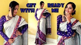Tutorial on draping Mekhela Sador || Getting Make Up for Assamese weddings!