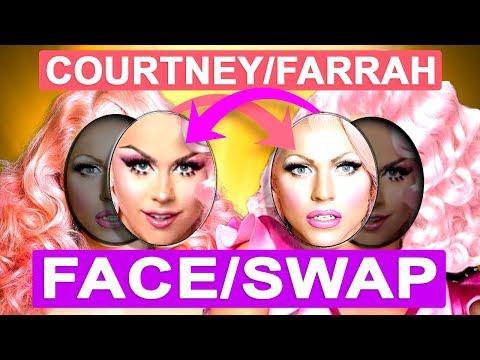 Courtney Act and Farrah Moan Face Swap