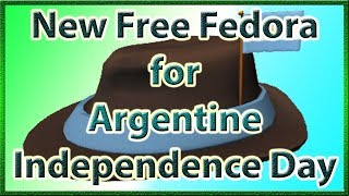 How to Get the International Fedora - Argentina on ROBLOX (Free Item) | 2019 July