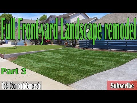 How to Lay Sod with Sprinklers & low voltage Lighting. Front-yard Landscape Remodel Part 3