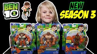New Ben 10 Reboot Action Figures Season 3 + Ben 10 Collection - Rath, Hot Shot, Humungousaur