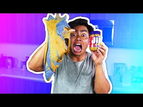 DIY How To Make PEANUT BUTTER JELLY SLIME!