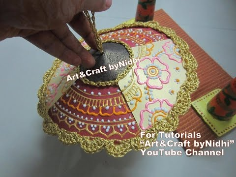 How To Make Base For Umbrella Dome From Waste Materials Weddingcards Brochure