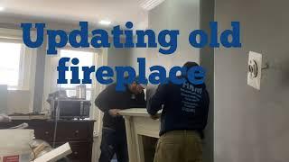 Custom DIY fireplace upgrade Electric fireplace install