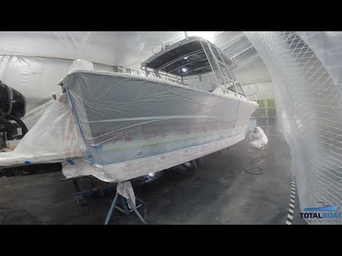Boat Painting 101: Spray Painting the Waterline & Finishing Touches