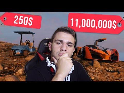 GTA 5 TEST: Najjeftiniji vs. Najskuplji Auto u Igrici?