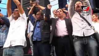 وقفة على سلم نقابة الصحفيين للرد على «موتمر الأهرام»