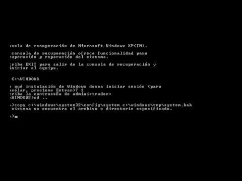 arquivo windows system32 config system para