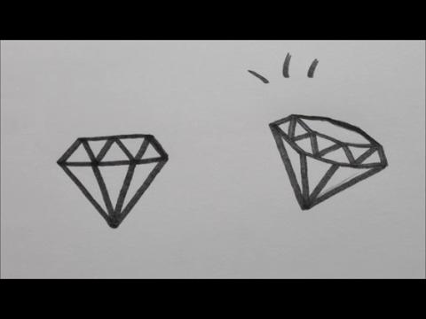 Diamant Leren Tekenen In Stappen Youtube