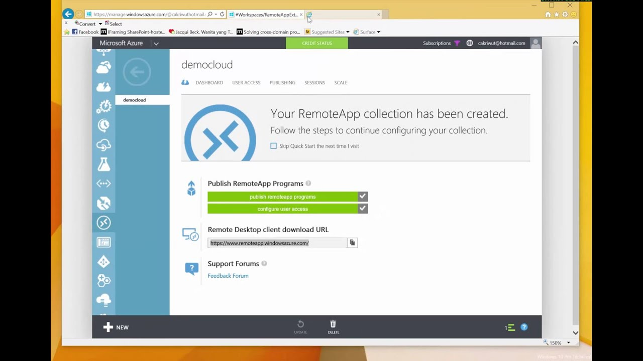 Azure - How to create RemoteApp