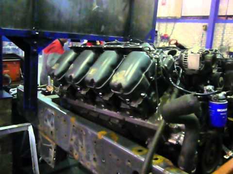 Scania V8 Semi Truck Puller New Engine Start Up Motor