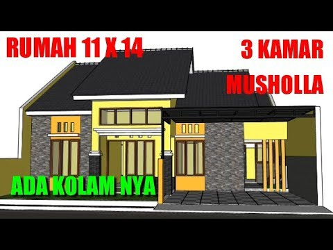 rumah-minimalis-modern-dengan-musholla-3-kamar-denah-ukuran-11x14-1-lantai