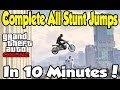 """GTA Online - Complete All """"Stunt Jumps"""" in Minutes! (Get Lime Green Paint Easy) [GTA V Tutorial]"""