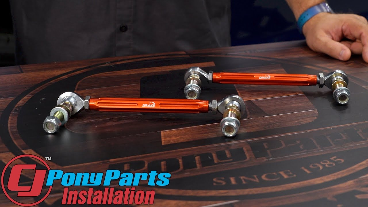 2015-2019 Mustang Drake Muscle Cars Sway Bar End Link Adjustable Front Pair  Installation