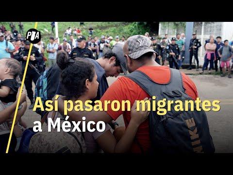 Migrantes ingresan por frontera sur a México