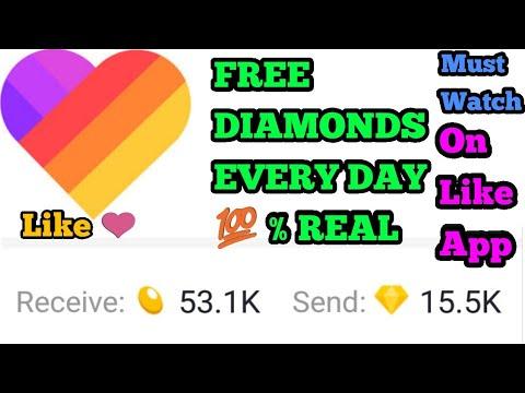 How To Get Free Diamonds On Like App by Pawan / Like app pr free diamond  kase paaye