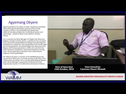 Meet Mining Manager Agyemang Okyere, Golden Star Resources Bogoso/Prestea Ghana ltd