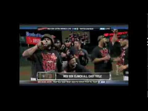 Red Sox clinch AL East, Jonny Gomes punts beer