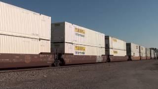 BNSF 4820/BNSF 6988/BNSF 7864 W/B stack train Afton Oklahoma.