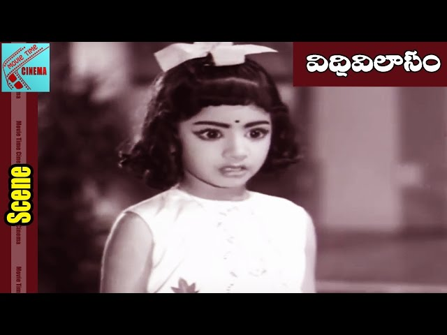 Childhood Sridevi Innocent Funny Scene || Vidivilasam Movie || Krishna, Vijaya Nirmala || MovieTime