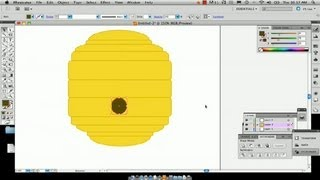How to Draw Bee Hives With Illustrator : Using Adobe Illustrator