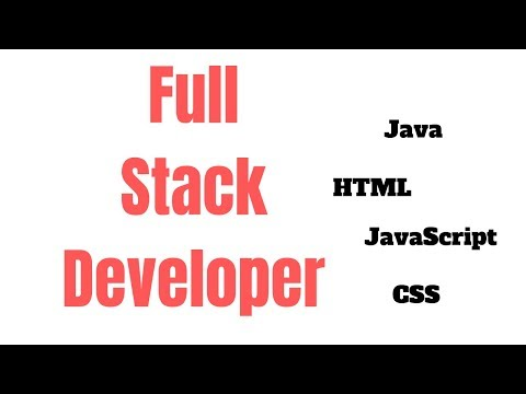 How to be a Full Stack Developer?