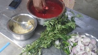 Cooking Goat Blood Fry in My Village - Village Food