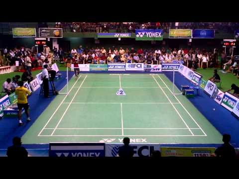 76th Senior National Badminton Championships 2012 - MS Finals Sourabh Varma vs Sai Praneeth Part 1