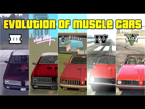 Evolution Of Muscle/Classic Cars In GTA Games