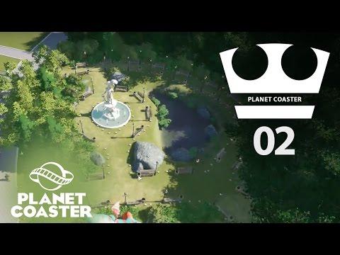 Jirka Hraje - Planet coaster 02 - Fontána a park