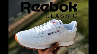 "Reebok Classic Leather White/Gum ""On feet"" 2017"