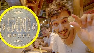 Probably the most valuable coin of the world ( 500 yen coin ) First day in Japan