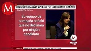 Margarita no declinará a favor de otro candidato: vocero