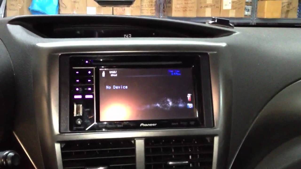 Impreza Wrx Sti >> Subaru wrx 2008 with pioneer avh-p2300dvd - YouTube