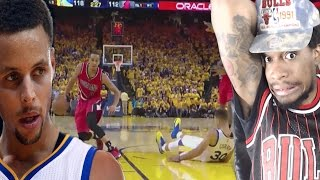 Mccollum drops 40 on curry's neck!!! warriors vs trail blazers game 1 highlights reaction!