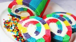 Торт СКАЗКА (!!!) радужный рулет.